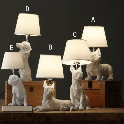 I Know A Couple Of Puppy Loving Kids Who Would Crush On These Adorable Lamps Affiliate Dog Lamp White Table Lamp Table Lamp