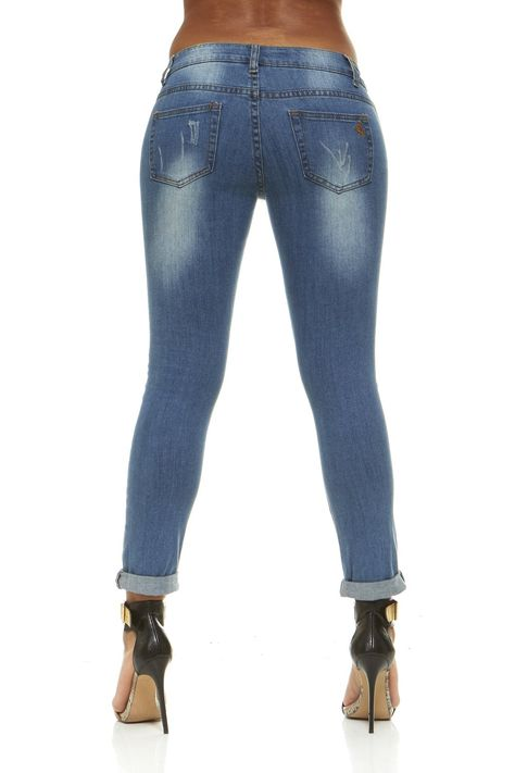 fe049a18bf2 V.I.P.JEANS Plus Size Jeans For Women Distressed Skinny Ripped Jeans Slim  Fit Stretchy Medium Blue Wash Plus Size 14     Click on the image for  additional ...
