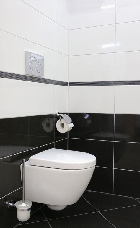 Wunderbar Badezimmer Schwarz Weiss Fliesen
