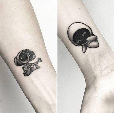 Wall-E and Eva Tattoos - - #Couple