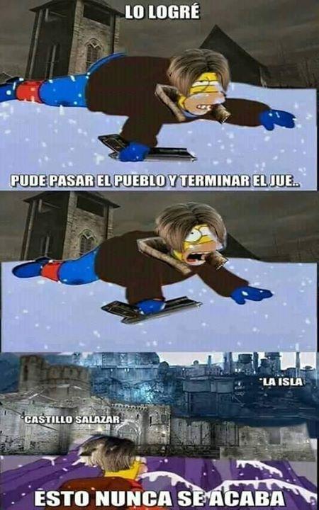 Meme Videojuegos Por Steammexico Mx Esto Nunca Termina Hijo V Gamer Gamers Humor Memes Espanol 2019 Chistosos Sigue Nuestr Resident Evil Memes Humor