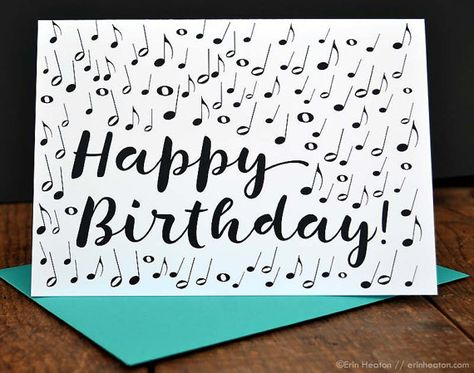 MUSIC NOTE Birthday Card Musician Music Teacher Happy