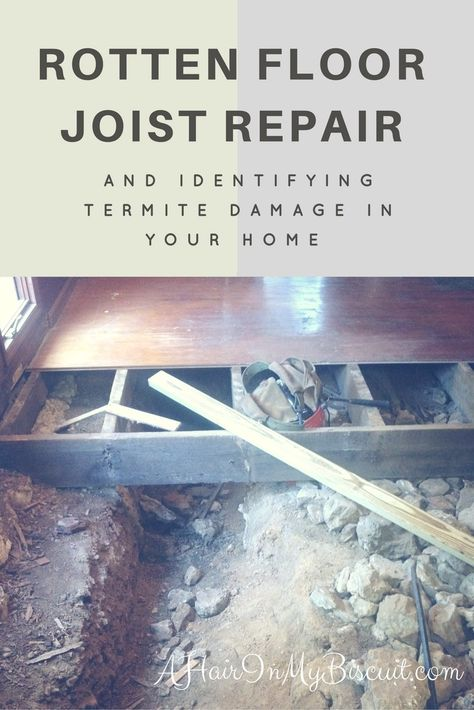 We're on the last step of our old farmhouse remodel...replacing those old, rotten floor joists! See what we found under our house, and what we're doing about it.