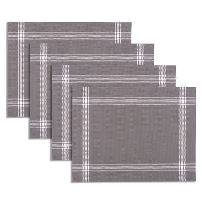 Featuring A French Inspired Stripe Design These Placemats Offer The Perfect Complement To Any Kitchen Or Dining Table Woven Placemats Placemats Placemat Sets