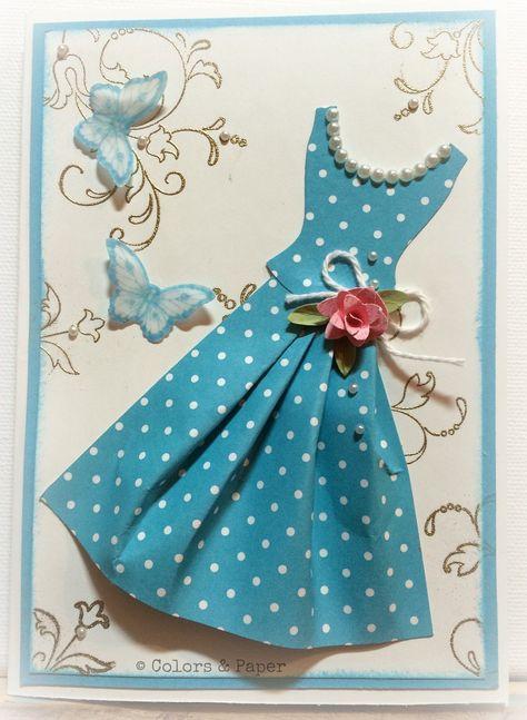 мастер класс открытка платьице