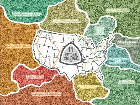 11 U.S. National Scenic Trails Puzzle