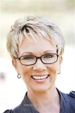 Image Result For Hairstyles For 50 Year Old Woman With Glasses New Hairstyles Short Hair Styles Hair Styles Very Short Hair