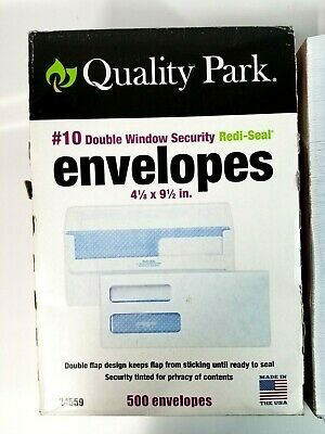 Ad Ebay Quality Park 10 Double Window Self Seal Security Envelopes 24559 Security Envelopes Double Window Window Security