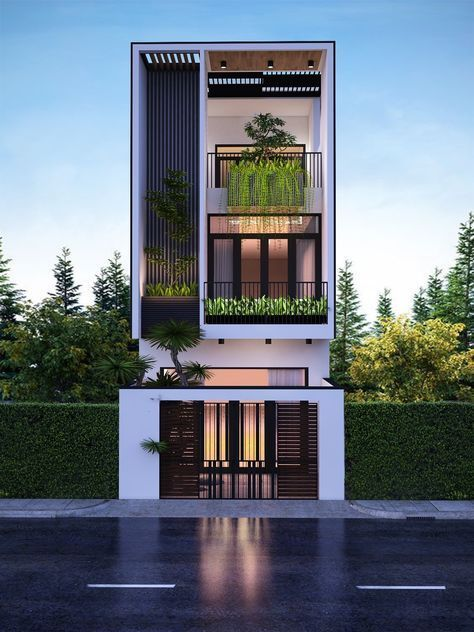 50 Narrow Lot Houses That Transform A Skinny Exterior Into Something Special Narrow House Designs Facade House Narrow Lot House