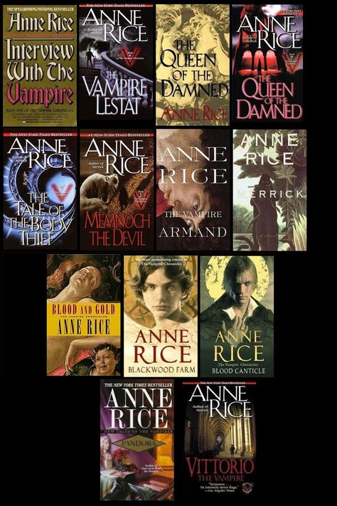 The Vampire Chronicles by Anne Rice 1978-1999