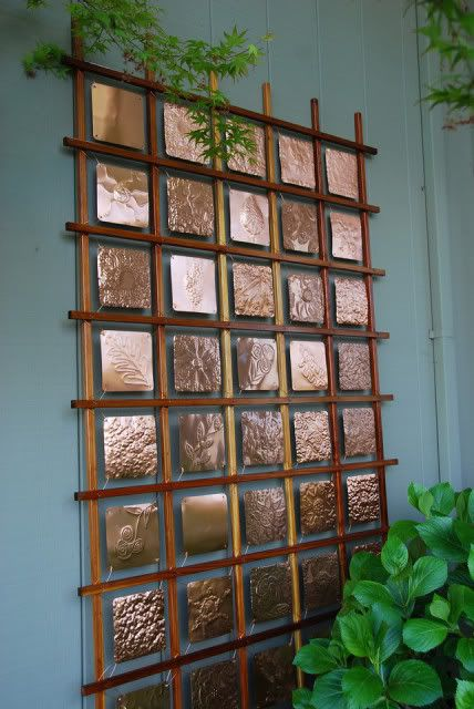 Copper Art by grade students in CA! I can even see high school students participating in this type of project!