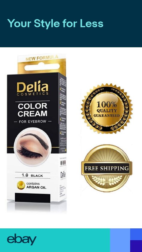 31c72228716 Delia Eyelash & Eyebrow Dye Tint Lash Kit Full Kit With Argan Oil Black