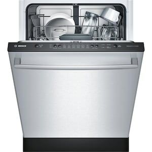 Bosch Ascenta 50 Decibel Top Control 24 In Built In Dishwasher Stainless Steel Energy Star Lowes Com Built In Dishwasher Integrated Dishwasher Fully Integrated Dishwasher