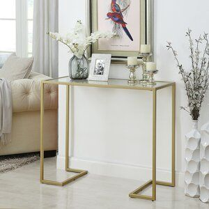 Royalston 38 Glass Top Console Table Console Table Decorating Glass Console Table Furniture