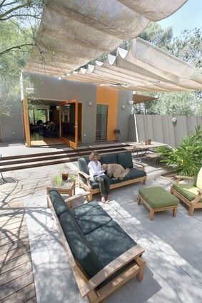 A Shady Solution Shade Sails As Awnings In 2020 Patio Shade Outdoor Shade Patio