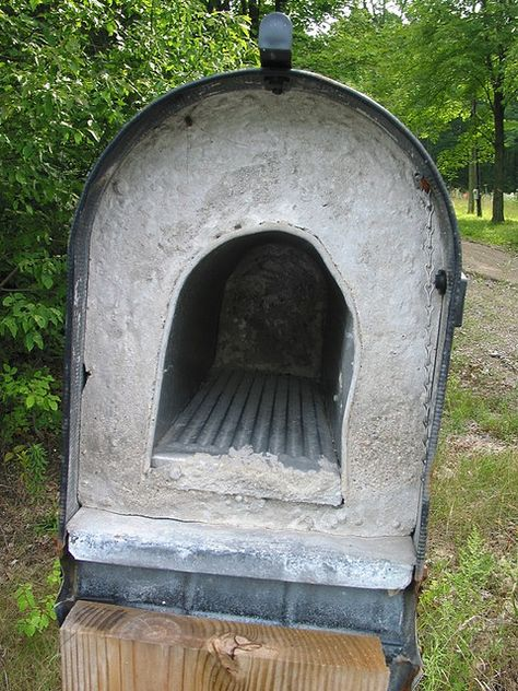 bash this. Bet you can't knock this mail box off it's pole.  Perfect for the boxes that are along the Country Roads out here.