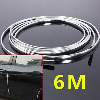 20FT 6M Chrome Moulding Trim Strip Car Door Edge Scratch Guard Protector Cover