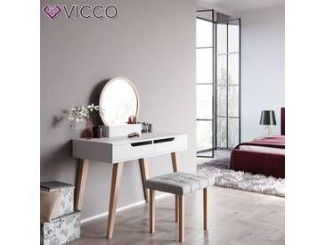 Schminktisch weiß  Vicco Schminktisch Alice Weiß Kosmetiktisch Frisierkommode ...