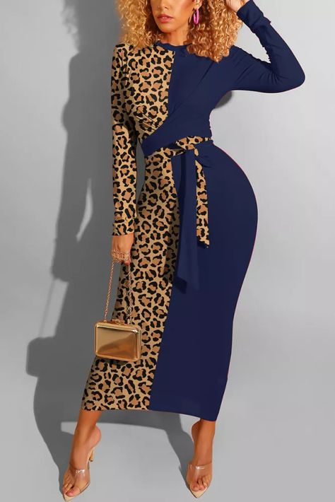 Classy Outfits, Cute Outfits, Leopard Dress, Leopard Print Outfits, Perfect Prom Dress, Navy Blue Dresses, African Print Fashion, Wholesale Clothing, Shabby Chic