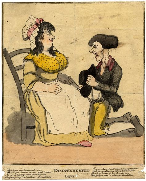This Satire On Love Is Titled Disinterested Love And Shows A Man