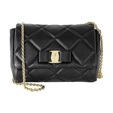 73f45b35cb80 Amazon.com  Salvatore Ferragamo Women s Miss Vara Bow Soft Quilted Shoulder  Bag