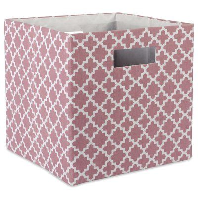 Design Imports Dii Cube Lattice Square Fabric Polyester Bin Color Rose Size 13 H X 13 W X 13 D Cube Storage Fabric Storage Bins Storage Bins