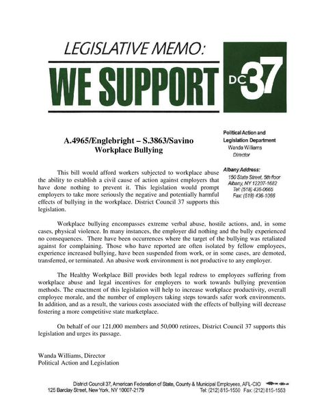Nysut Memorandum Of Support NysSA  Memorandums Of