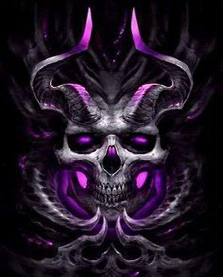 Pink Demon Skull Skull Artwork Skull Wallpaper Skull Art