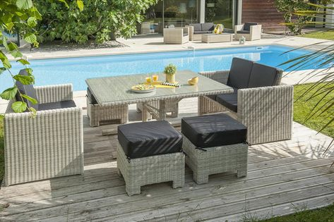 Salon jardin Oceane lunch blanc | Jardines, Salones y ...