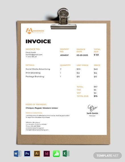 Advertising Agency Invoice Template Free Pdf Google Docs Google Sheets Excel Word Template Net Invoice Template Brochure Design Template Id Card Template