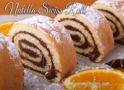 Nutella Swiss Roll