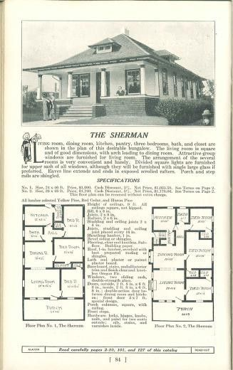 Aladdin Houses 1915 Sherman 2 Ways Archive Org Vintage House House Plans Old Houses