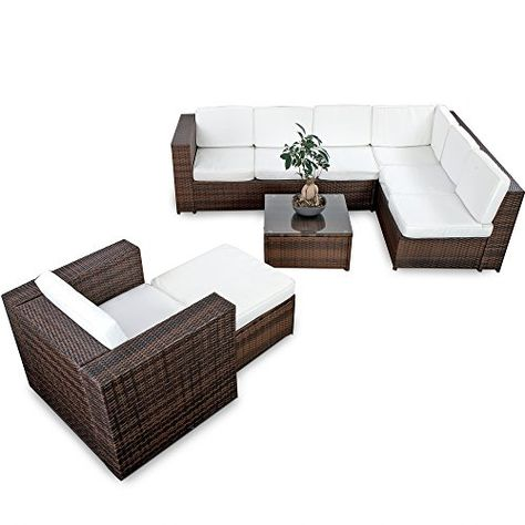 XINRO 22tlg Polyrattan Gartenmöbel Lounge Set (Modell 2017 - garten loungemobel anthrazit