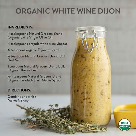 Level up your salad game with DIY Organic Dressings you can make at home! 💯 These oil-based dressings contain simple ingredients, are easy to make, and taste delicious. Which recipe will you try first? 👇 #NaturalGrocers #saladdressingrecipes #vinaigrettedressingrecipe #homemadedressing #healthysaladdressing #organicrecipes #vegansaladdressing