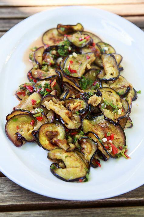 Scharfer Auberginen-Salat mit Koriander | HighFoodality | Bloglovin'