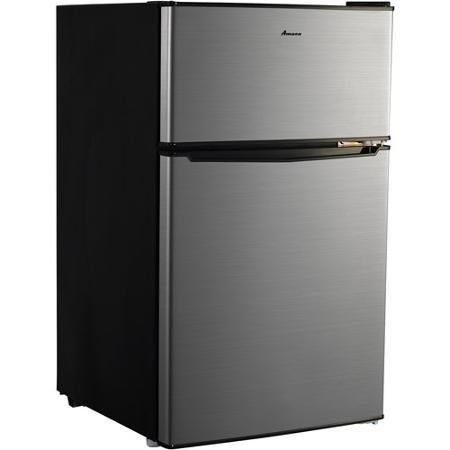 3 1 Cu Ft Small Mini Compact Two Door Refrigerator Stainless