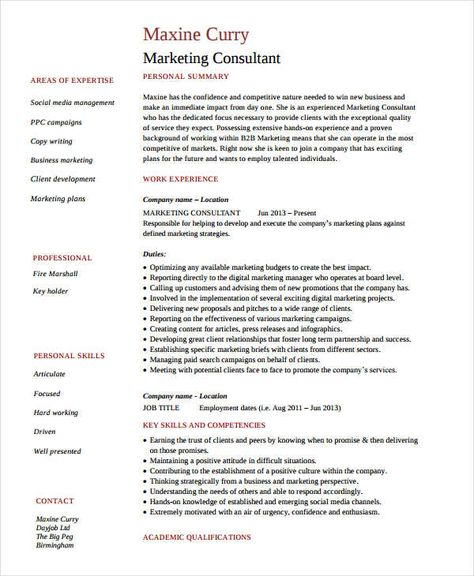Senior Marketing Consultant Resume Marketing Resume Samples For Successful Job Hunters It Is An Iron Marketing Resume Marketing Consultant Senior Marketing