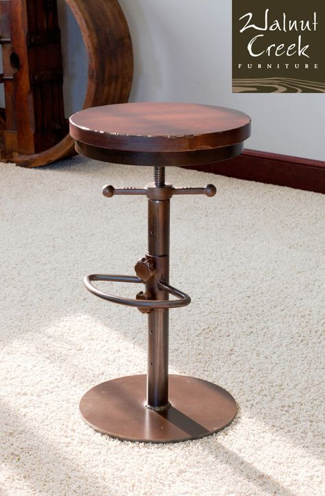 Pleasant Riko Adjustable Stool 87Cm To 109Cm Structube Caraccident5 Cool Chair Designs And Ideas Caraccident5Info