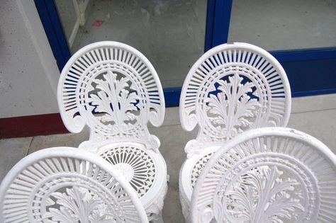 Sedie Francesi Da Giardino : Sedie da giardino in alluminio finemente decorate mobili