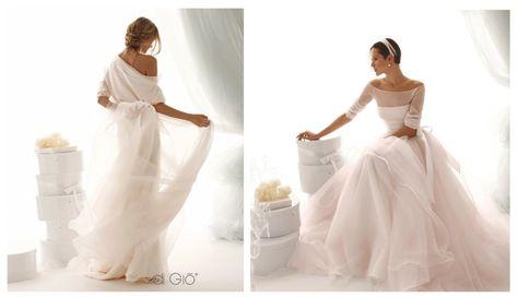 Abiti Da Sposa Rosa Cipria.Abito Sposa In Tulle Le Spose Di Gio Spose Sposa Abiti Da Sposa
