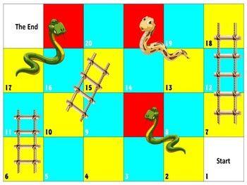 لعبة السلم والثعبان Snakes And Ladders Template Snakes And Ladders Template Snakes And Ladders Printable Snakes And Ladders