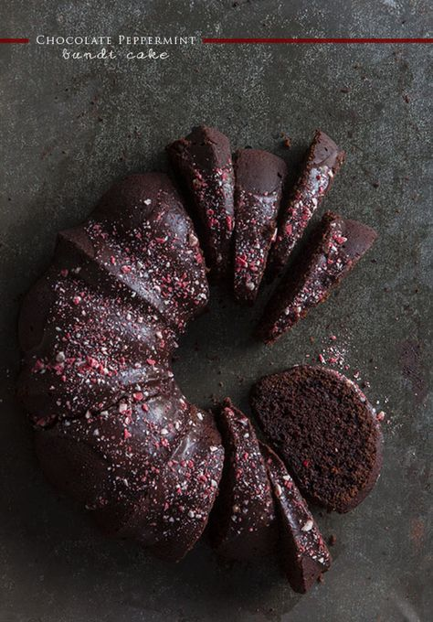 Chocolate Peppermint Bundt Cake - so doing this for Christmas!