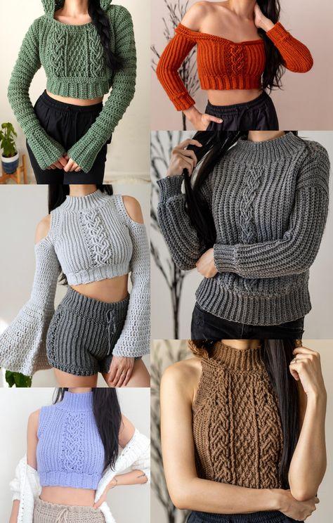 Crochet Art, Cute Crochet, Crochet Stitches, Knitting Patterns, Crochet Patterns, Diy Clothes Refashion, Crochet Fashion, Crochet Designs, Crochet Clothes
