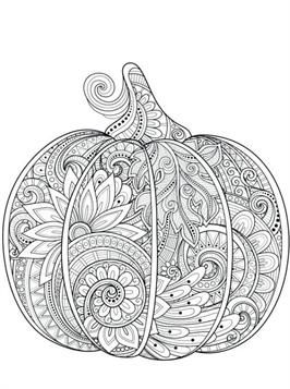 Nice Coloring Page Halloween For Adults On Kids N Fun Pumpkin Coloring Pages Halloween Coloring Book Thanksgiving Coloring Pages