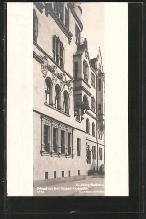Architekt Duisburg ansichtskarte duisburg fassade des rathauses architekt friedrich