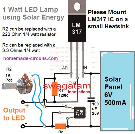 5 Easy 1 Watt Led Driver Circuits Leds Fotovoltaica Iluminacao