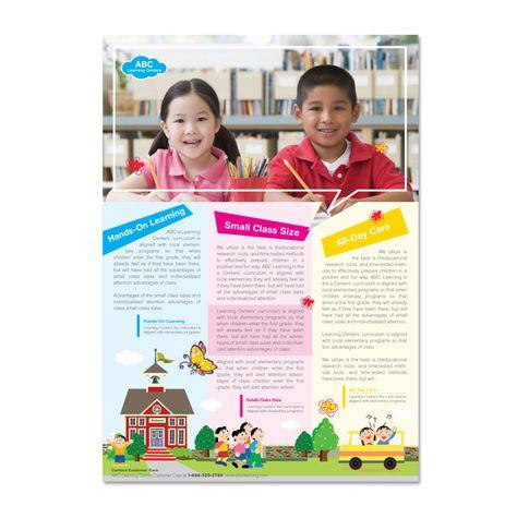 Learning Center and Elementary School Brochure Design Template by - kindergarten brochure template