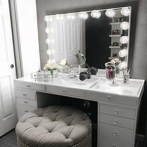 Low Shipping Financing Vanity Mirror With Lights Makeup Vanity Mirror With Lights Beauty Room Vanity Vanity Decor Vanity with lights for sale