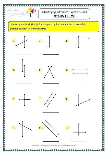 30 Parallel Perpendicular And Intersecting Lines Worksheet Line Segments And Angles Worksheet Geometry Worksheets 3rd Grade Math Worksheets Angles Worksheet