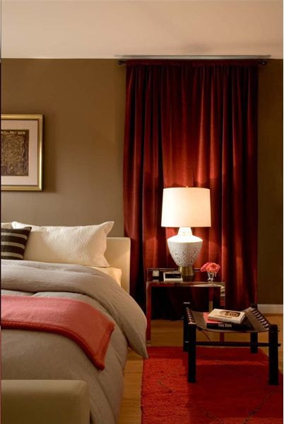 Coralandbrownbedroom Bedroom Is A Beautiful Combination - Red and brown bedroom ideas